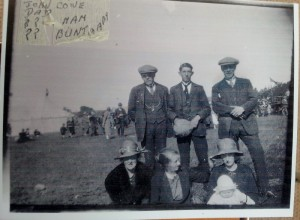 1926 Geordie Esson Jock Cowe and Nell Alexander and Margaret and daughter Margaret about 1925 or 6 Tarland show maybe