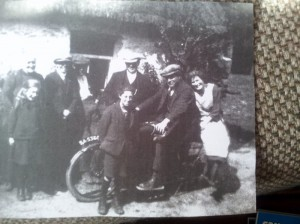 1930 Margaret Low Lottie Dick Ed Alexander Geordie on bike  Esson Jock Cowe and Nell