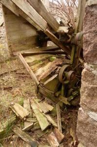 Drive wheels of mill engine Knockenzie - or next door