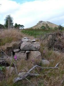 Bennachie and the Corner of the Engilsh Quarry Smiddy
