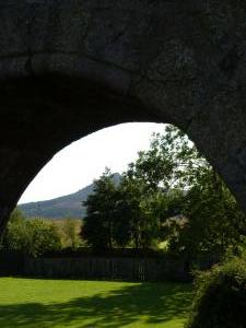Chapel of Garioch Bennachie through the Kirkyard Gate