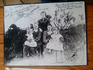 1897 Charlotte Sim 1845 Jane Hay Duthie ne Sim  and her daughters Minnie and Lizzie likely (standing not known
